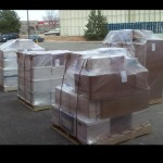 packed boxes on pallets
