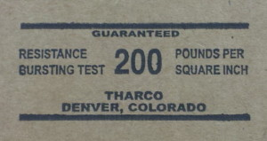 Bursting Test 200# stamp