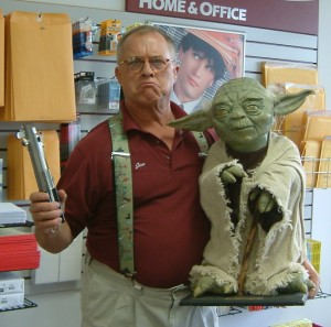packing and shipping collectibles - Yoda