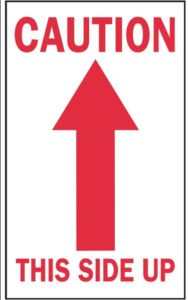 directional arrow for package